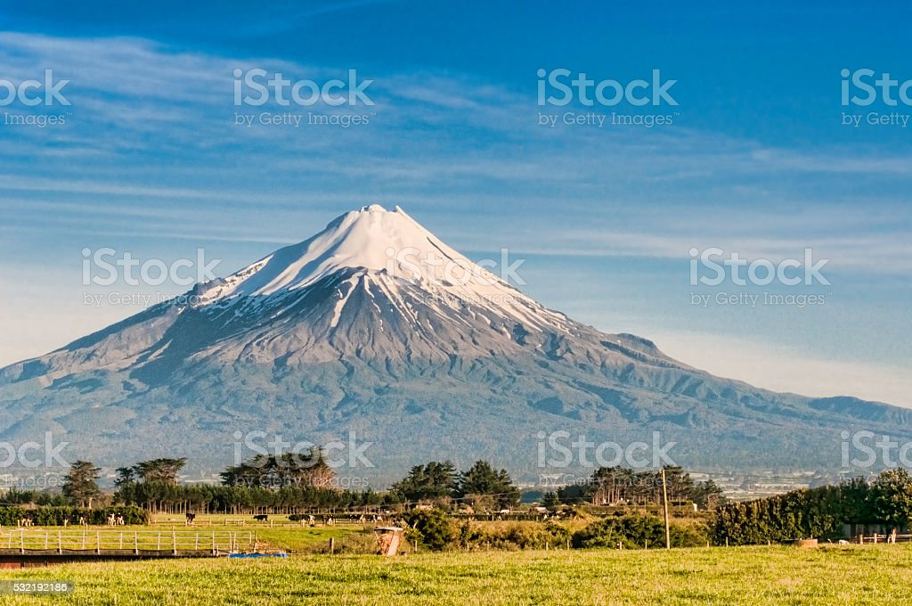 Mount Taranaki stock photo