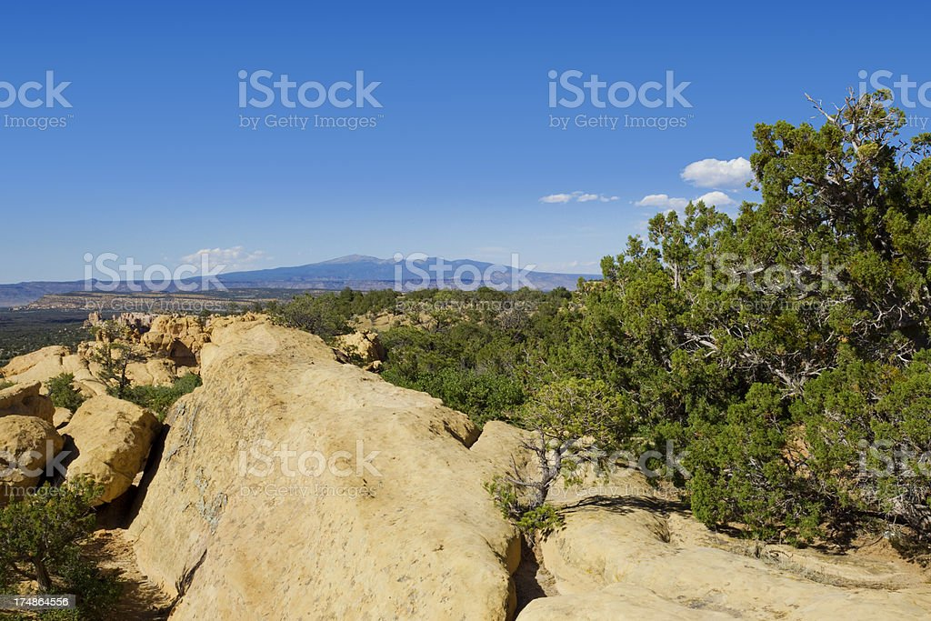Mount Taylor - El Malpais National Monument stock photo