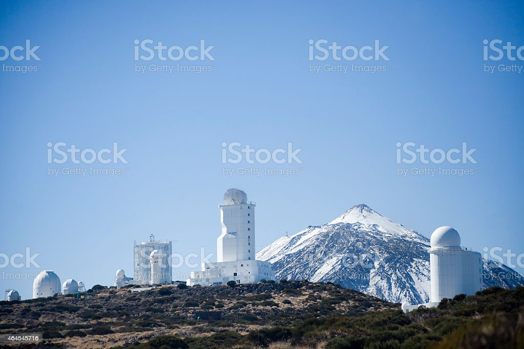 Mount Teide Astronomical Observatory stock photo