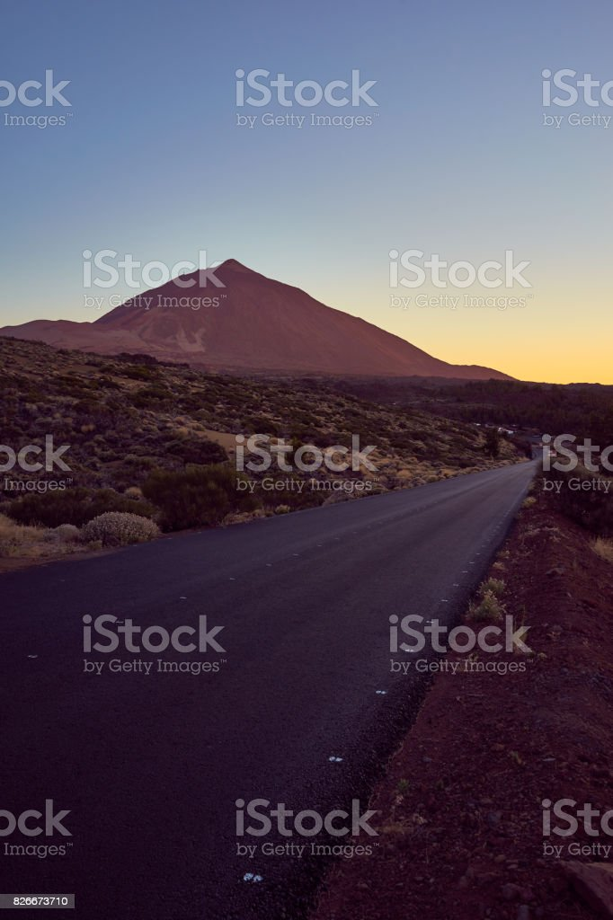 Mount Teide at Sunset stock photo