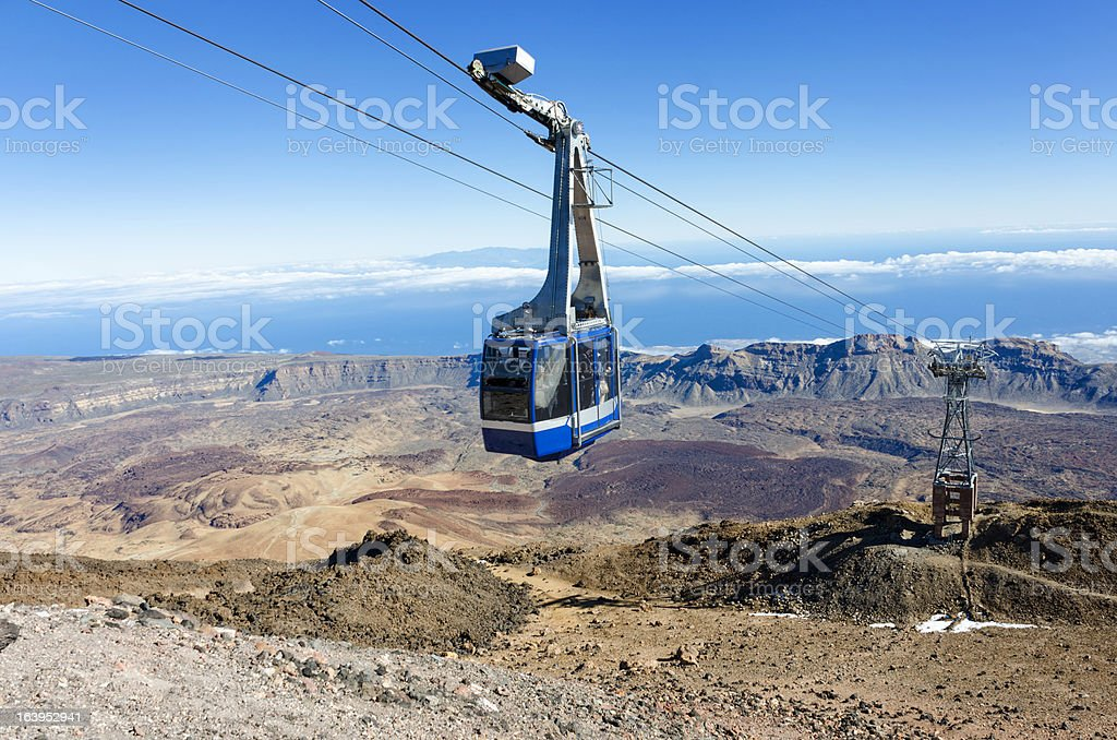 Mount Teide Cable Car stock photo