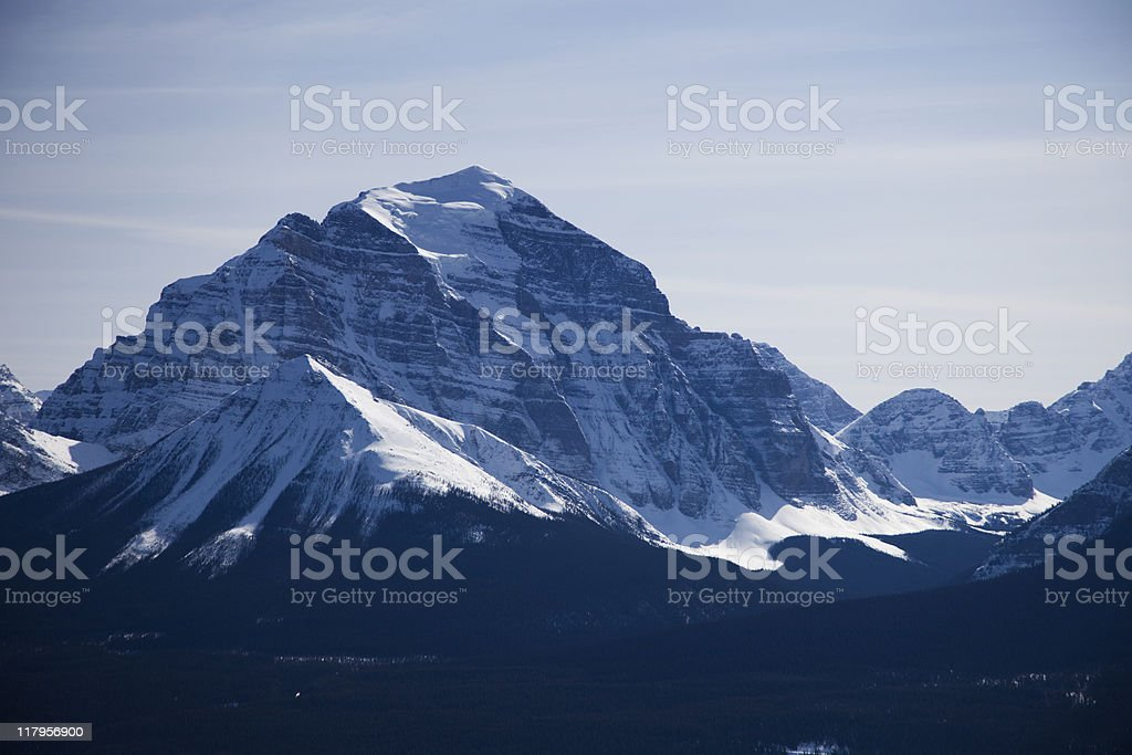 Mount Temple, Banff National Park royalty-free stock photo