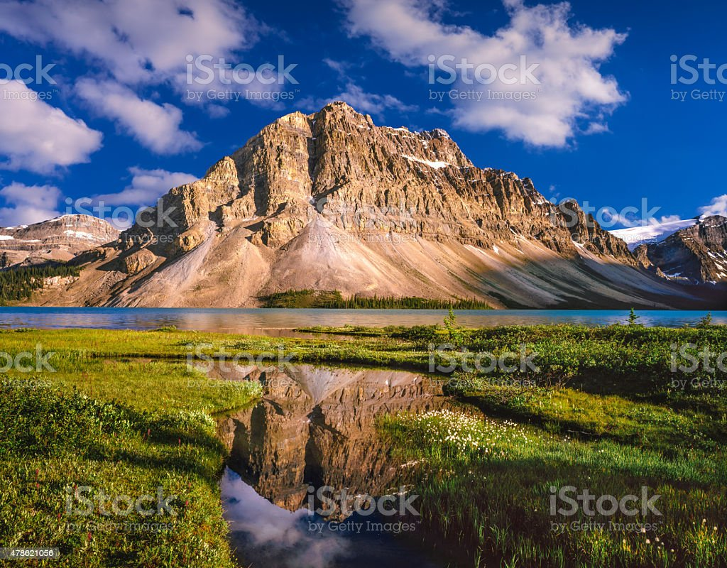 Mount Thompson in the Canadian Rockies of Banff NP, Canada stock photo