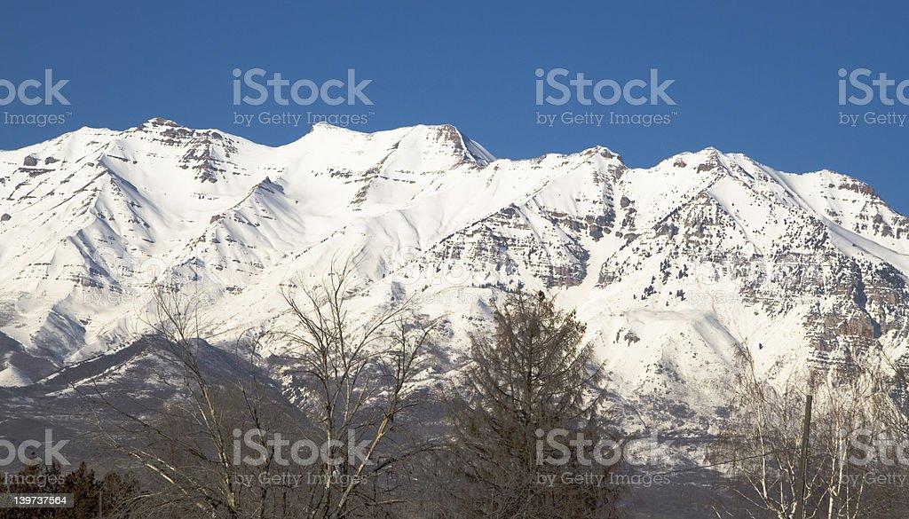 Mount Timpanogos from the Southwest stock photo
