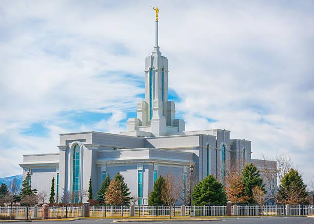 Mount Timpanogos Utah Temple stock photo