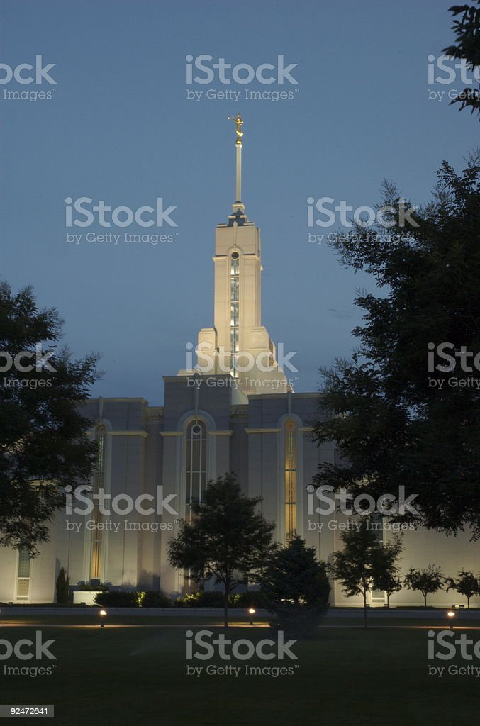 Mount Timpanogos Utah Temple (North View) royalty-free stock photo