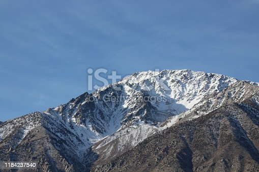 A light dusting of powder coats one of the most prominent peaks in the mighty Sierra's, as the coming winter looms large over Bishop, California
