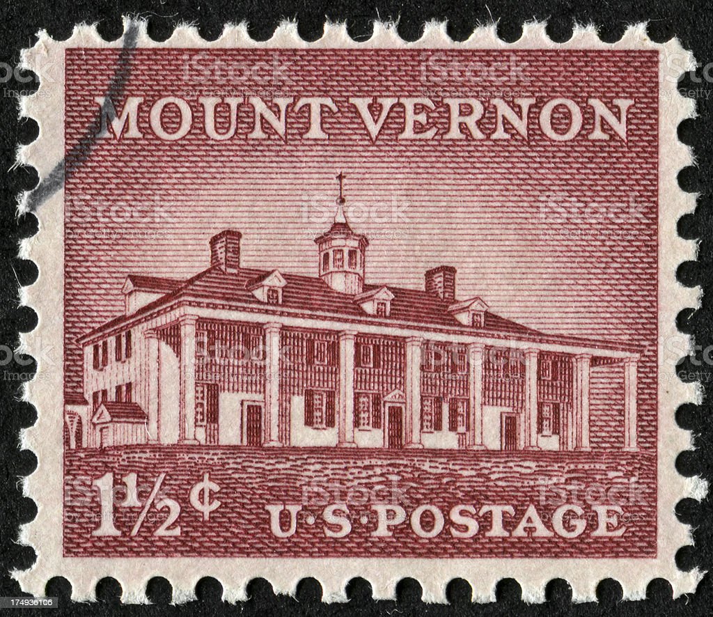 Mount Vernon Stamp royalty-free stock photo
