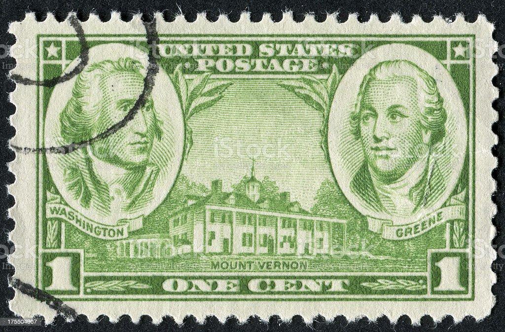 Mount Vernon Stamp stock photo