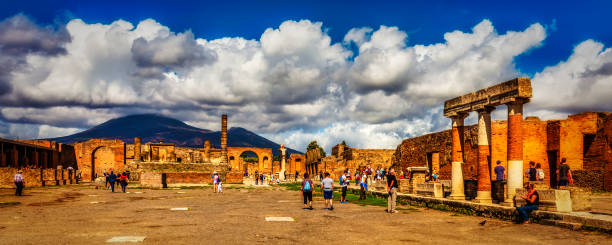 Mount Versuvius - Keeping A Watchful Eye Over Pompei stock photo