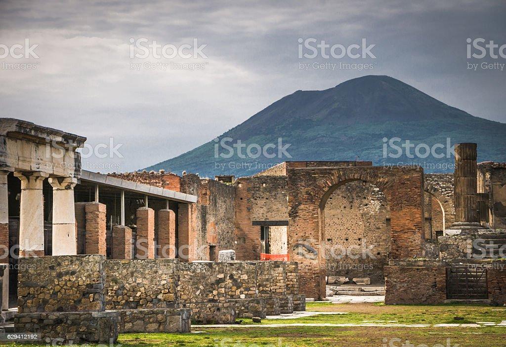 Mount Vesuvius stock photo