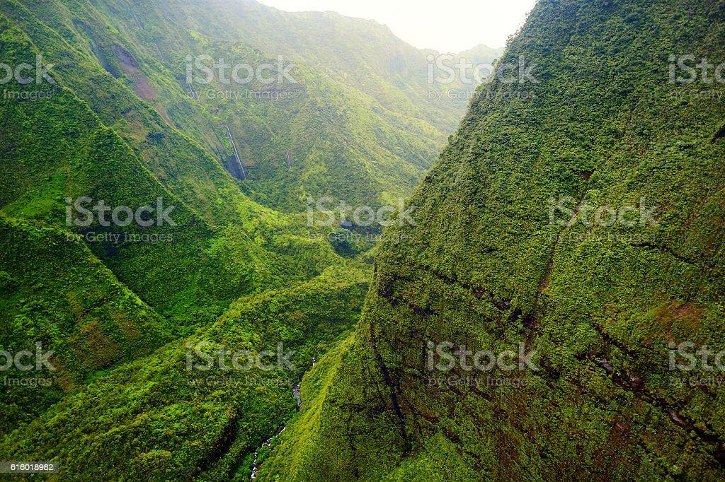 Mount Waialeale, Kauai, Hawaii stock photo
