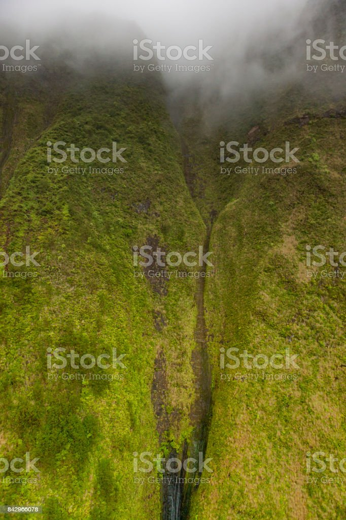 mount waialeale, kauai island, hawaii islands stock photo