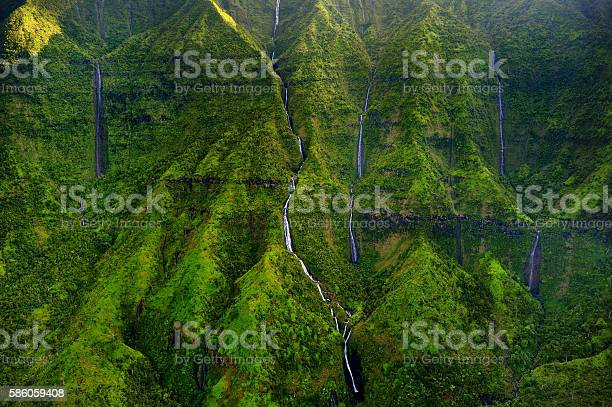 Photo of Mount Waialeale known as the wettest spot on Earth