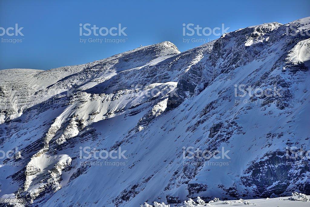 Mount Warscheneck in upper Austria stock photo