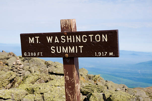 "Mount Washington (NH, Usa) ""Summit of Mt. Washington, New Hampshire, USA. The highest peak east of the Mississippi and north of Virginia."" mount washington new hampshire stock pictures, royalty-free photos & images"
