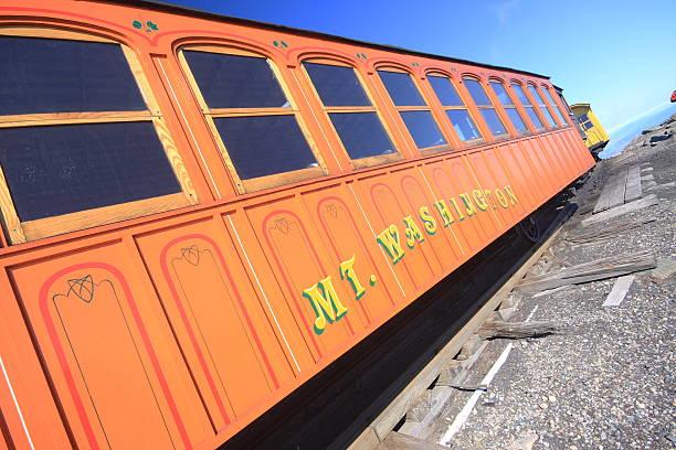 Mount Washington Submit Railway Train to Mount Washington summit. mount washington new hampshire stock pictures, royalty-free photos & images