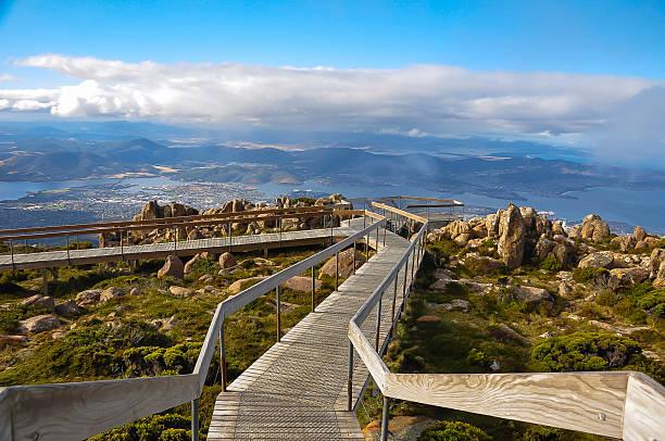 mount wellington, tasmania - tasmania stock photos and pictures