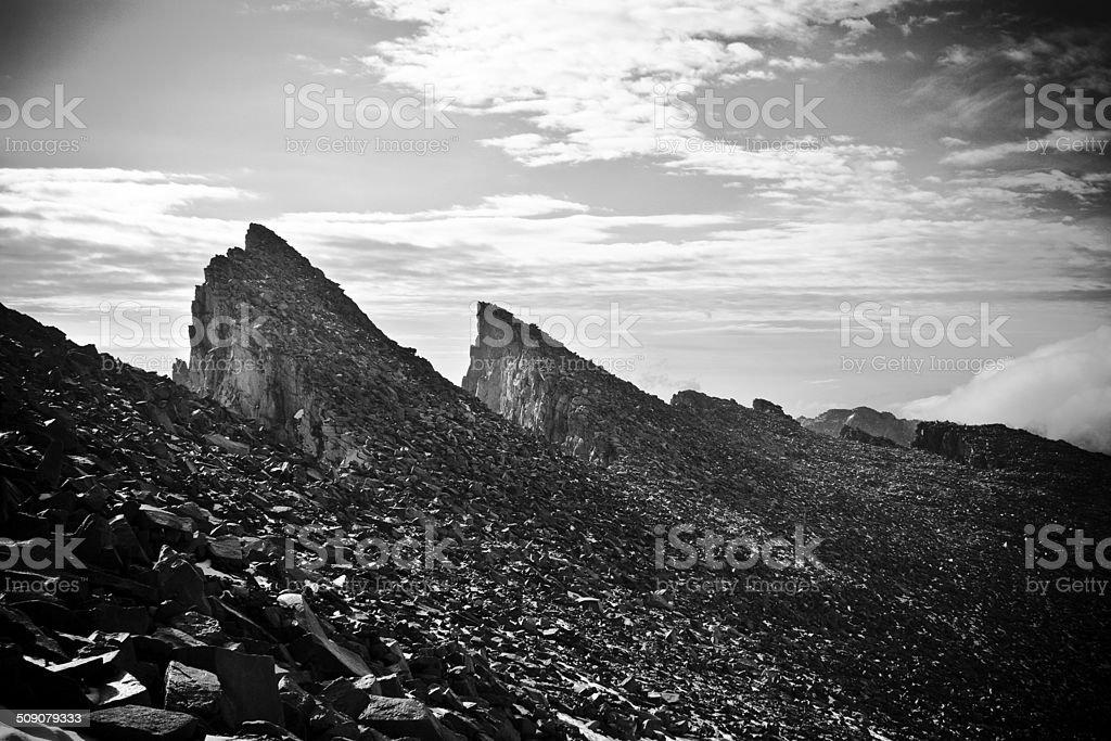 Mount Whitney Teeth (Black & White) stock photo