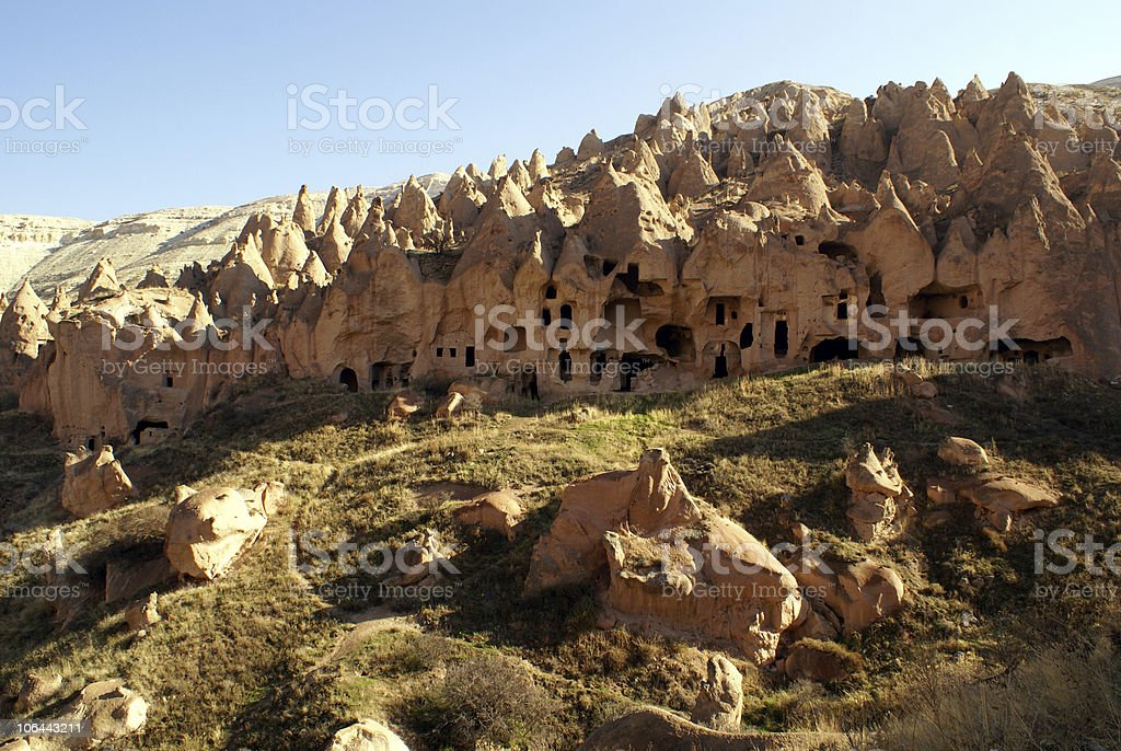 Mount with caves royalty-free stock photo