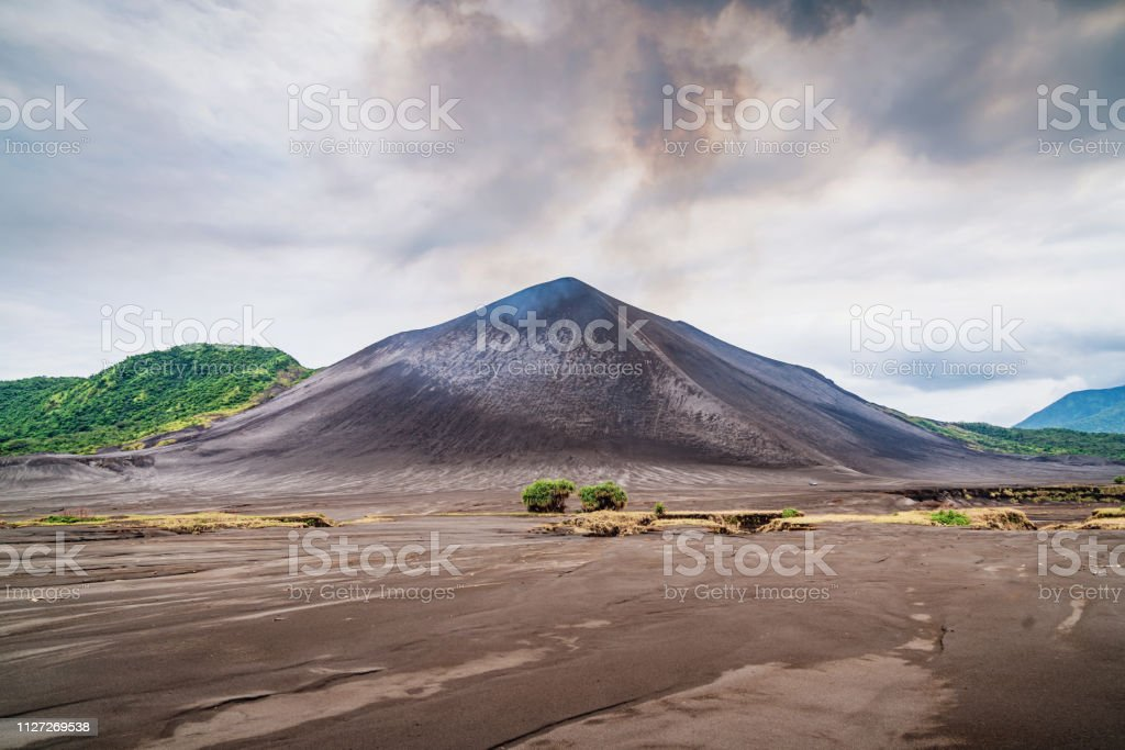 Mount Yasur Volcano Tanna Island Vanuatu stock photo