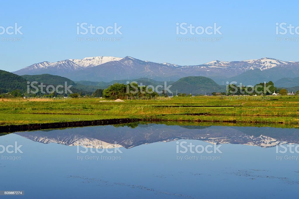 Mount ZAO in spring stock photo