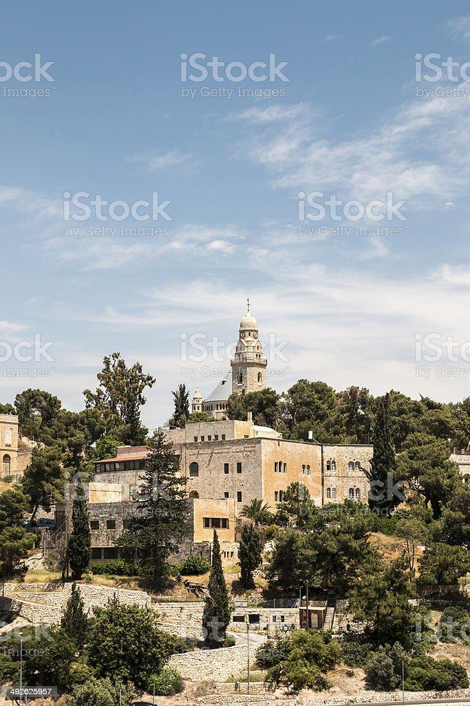 Monte Zion y la iglesia de la dormición - foto de stock