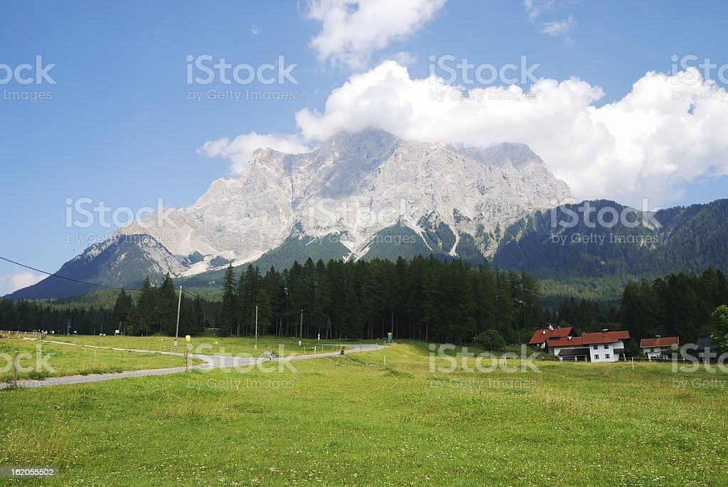 Mount Zugspitze stock photo
