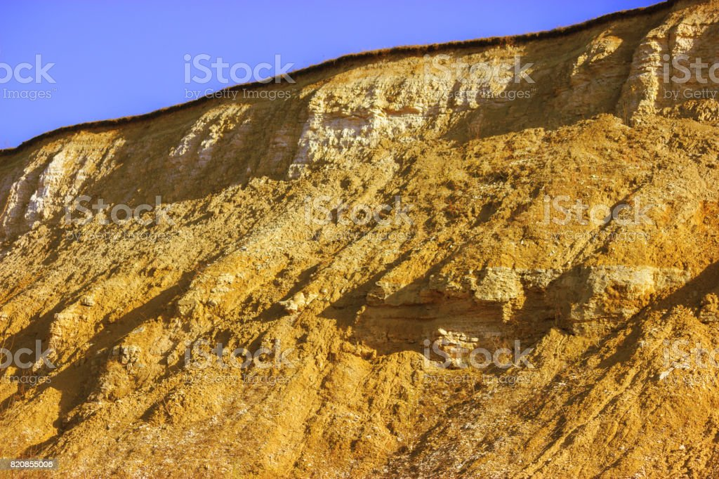mountain after a mudflow stock photo