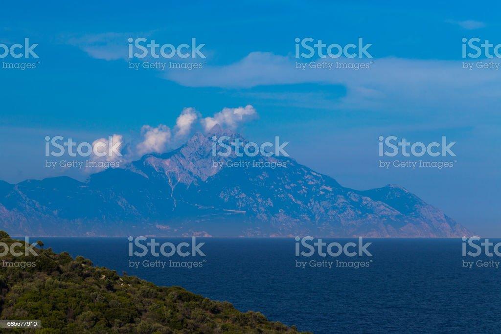 Mountain Ahtos Greece foto de stock royalty-free