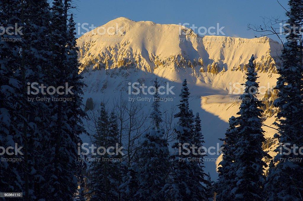 Mountain Alpenglow View royalty-free stock photo