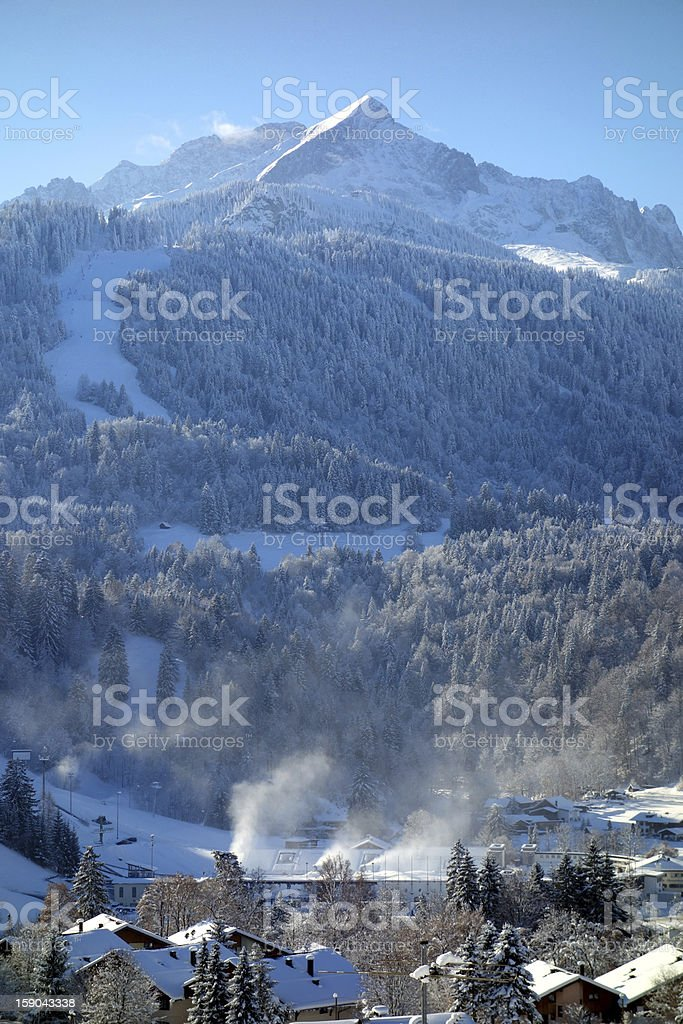 Mountain Alpspitze, Germany stock photo