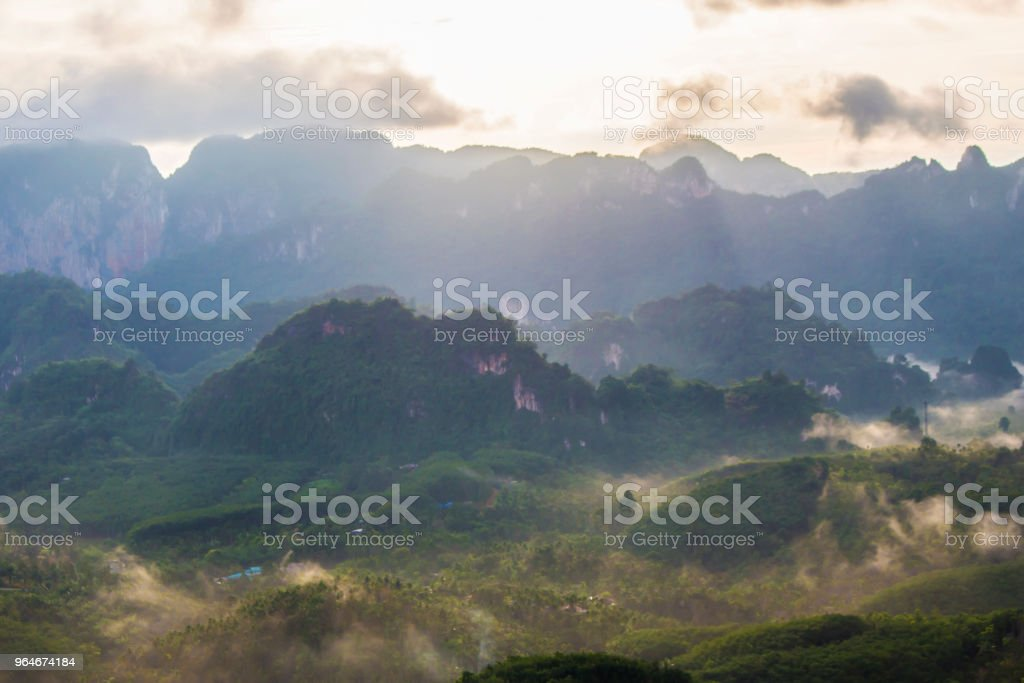 mountain and forest royalty-free stock photo