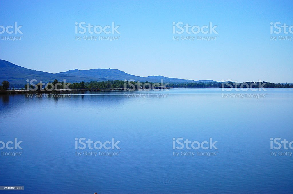 Mountain and Geneva lake, Switzerland royalty-free stock photo