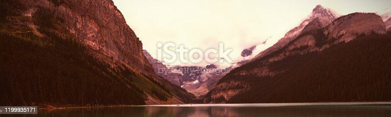 istock Mountain and lake at countryside 1199935171