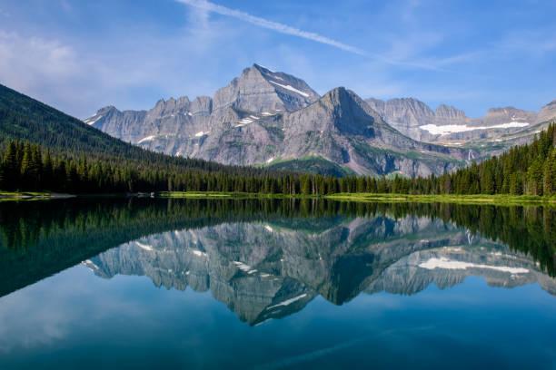 Montagnes et le lac miroir - Photo