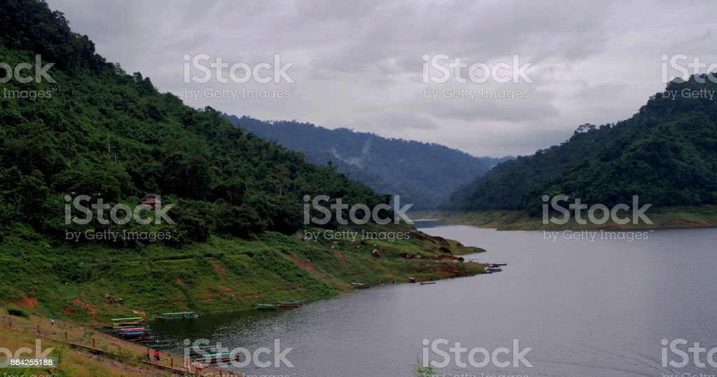 Mountain and river royalty-free stock photo