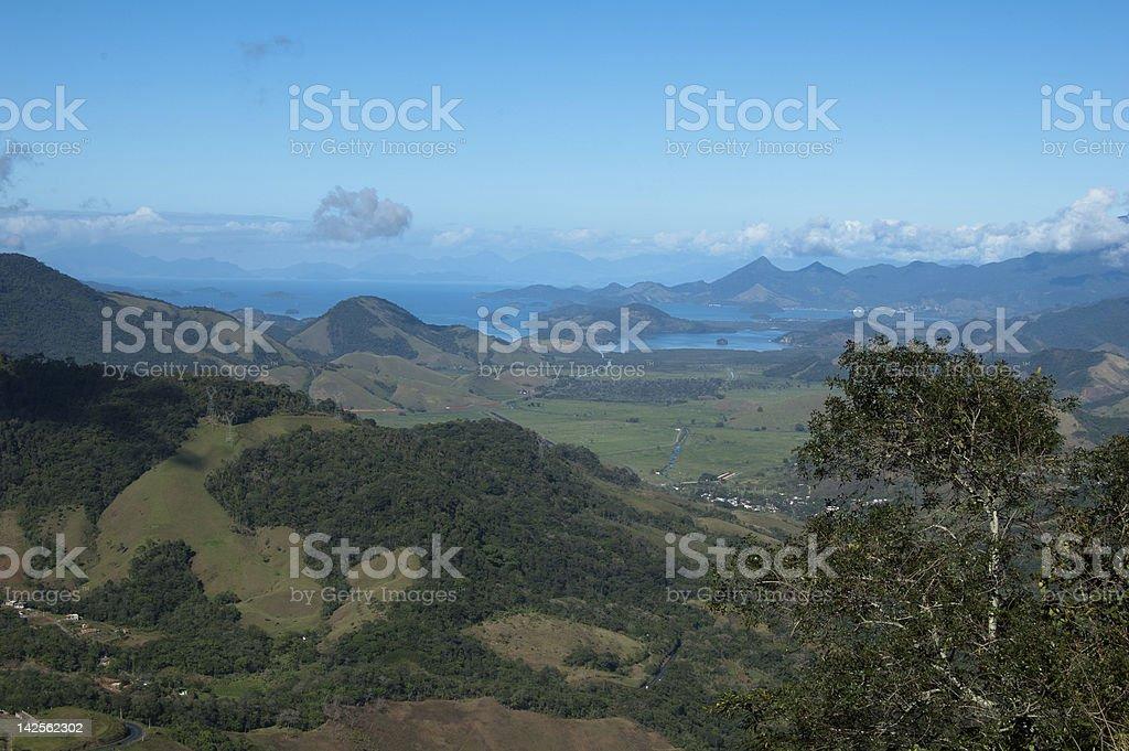 Mountain and sea Angra dos Reis Brazil stock photo