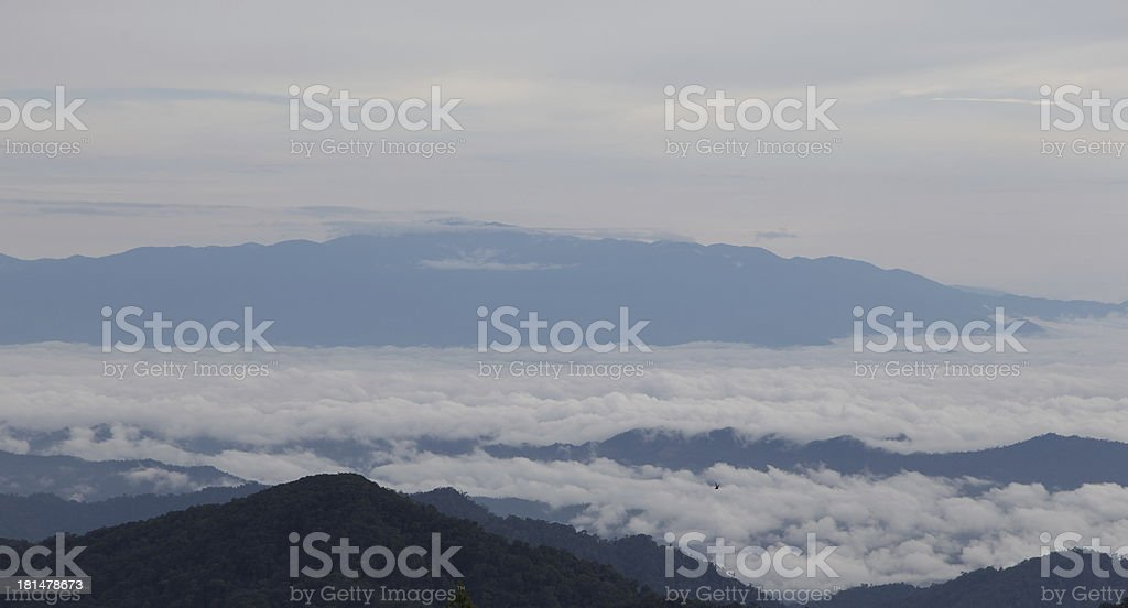 Mountain and sky royalty-free stock photo