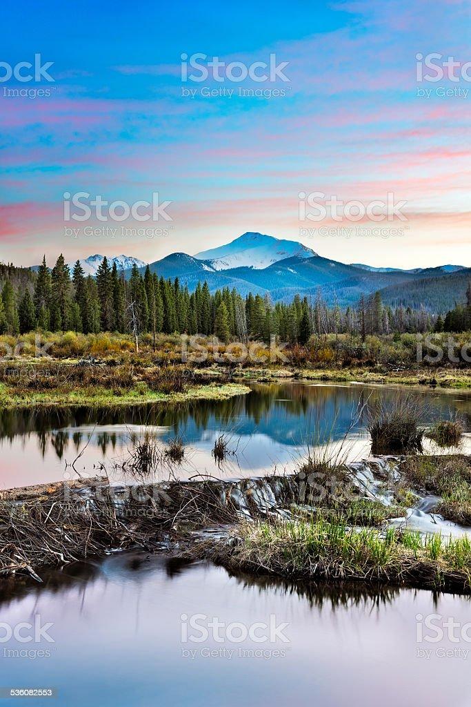 Mountain and Stream stock photo
