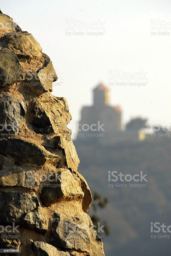Горы и церковь стоковое фото