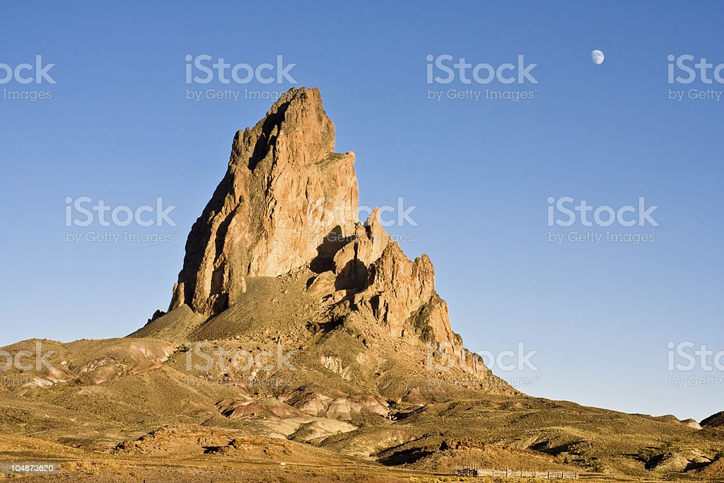 Mountain and the Moon royalty-free stock photo