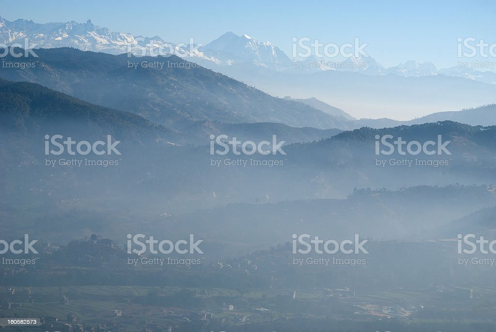 Mountain and the valley royalty-free stock photo