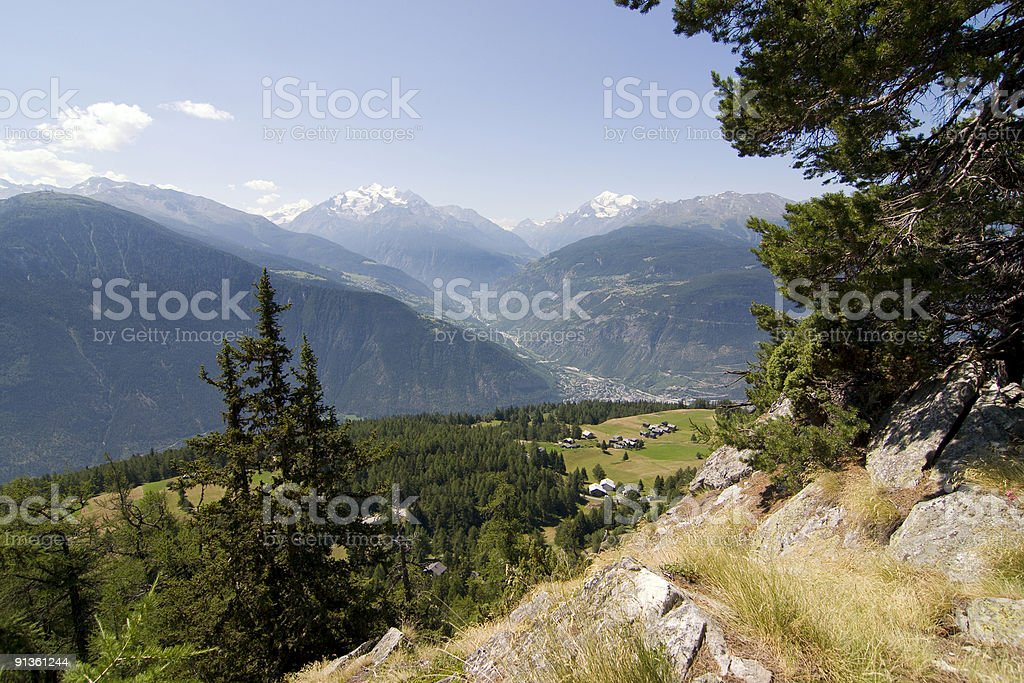 Mountain and valley view royalty-free stock photo
