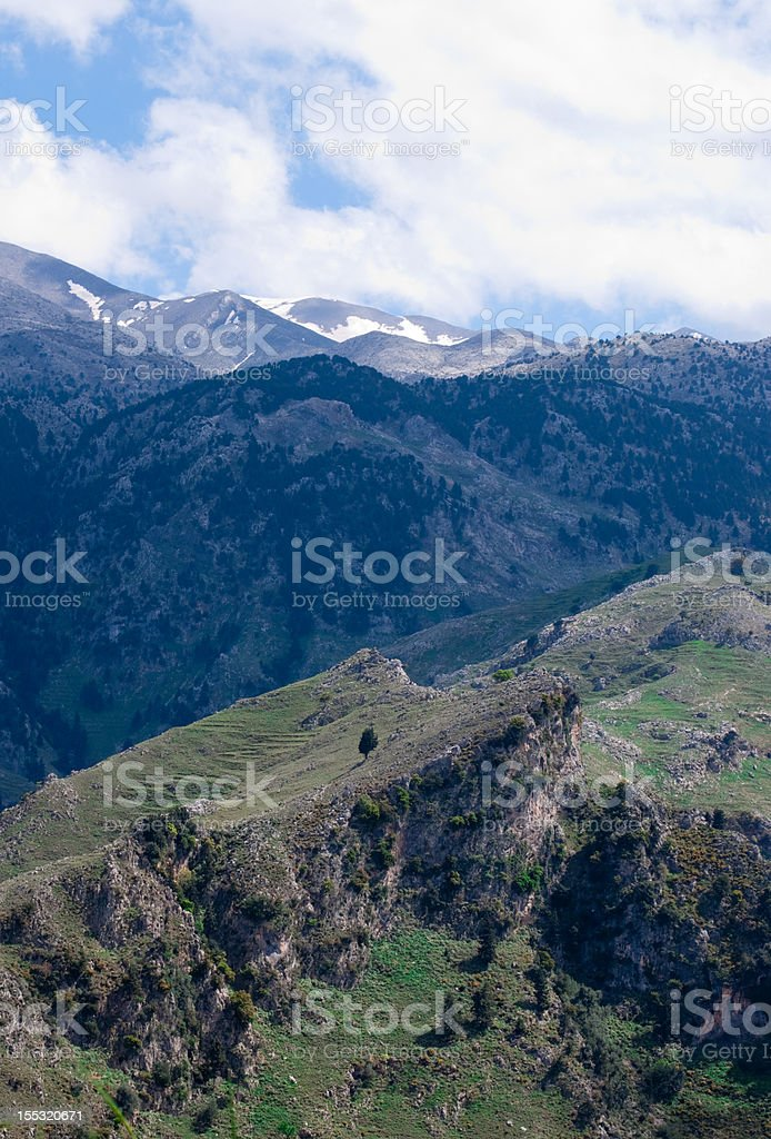Mountain area in Greece stock photo