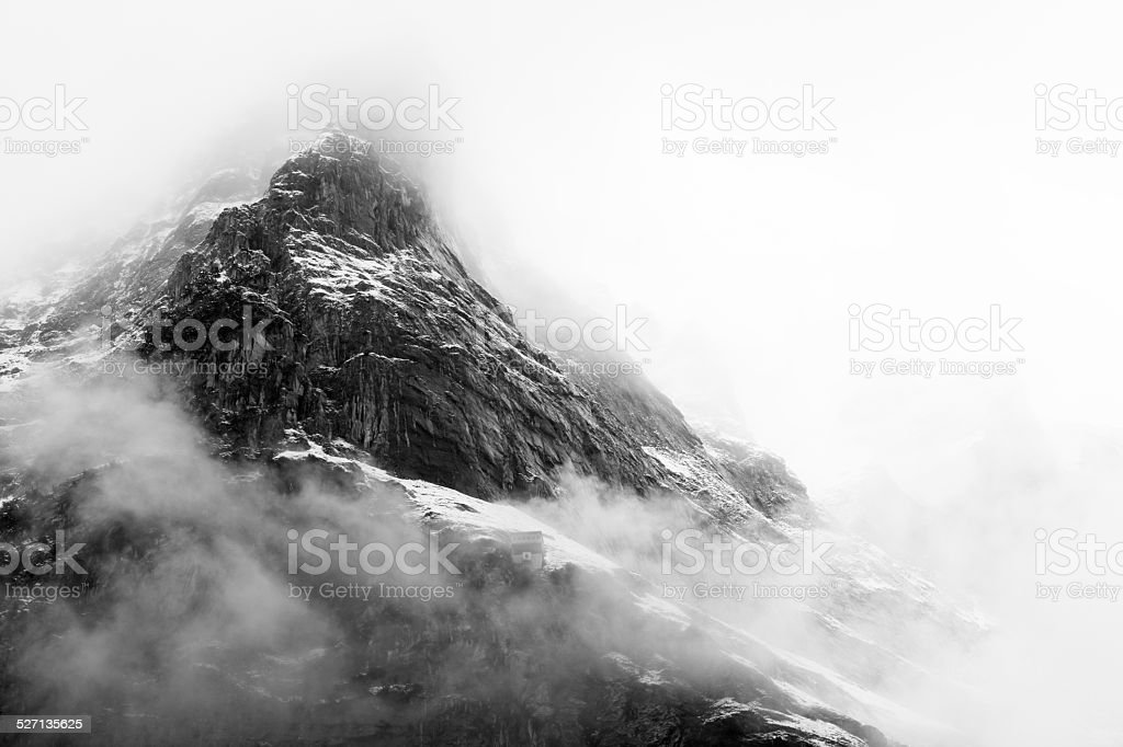 Mountain at sunrise stock photo