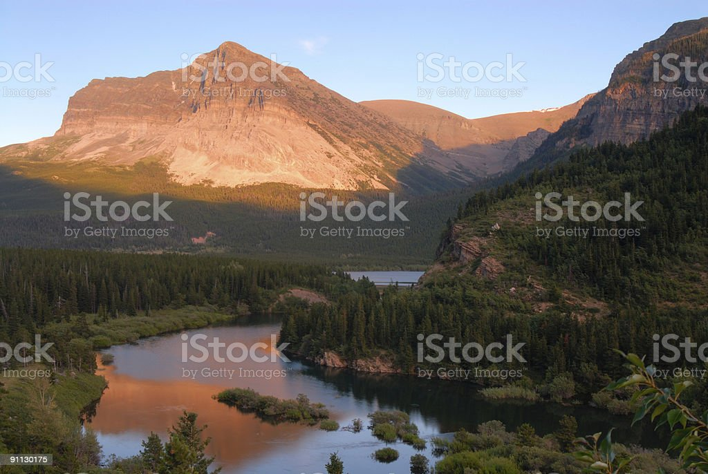 Mountain at Sunset royalty-free stock photo