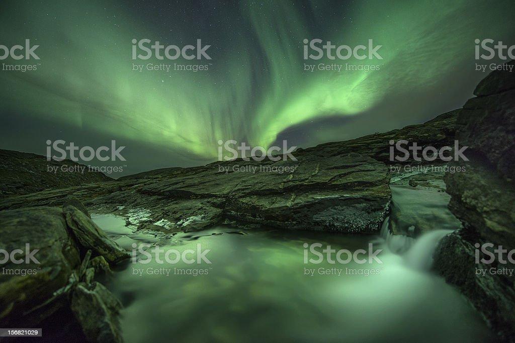 Mountain Aurora royalty-free stock photo