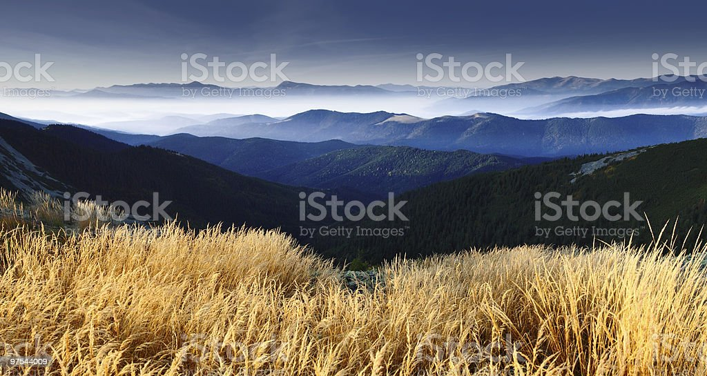 mountain autumn royalty-free stock photo