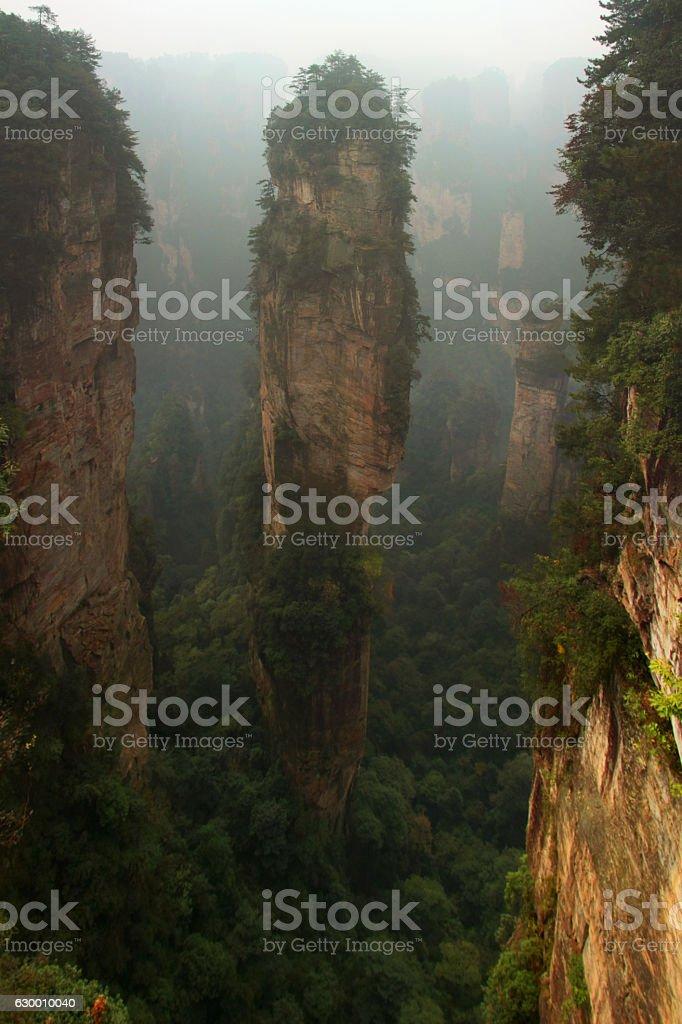 Mountain avatar in China stock photo